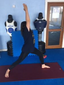 yoga asana sequence for the gentle stretching of the
