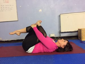 yoga asana sequence with a focus on the lower back